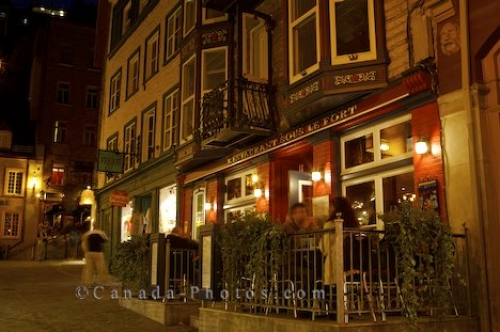 Photo: Restaurant Rue Sous Le Fort Old Quebec