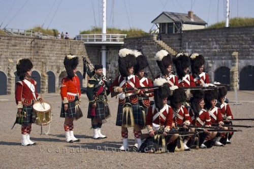 Photo: Rifle Firing Demonstration Halifax Citadel National Historic Site