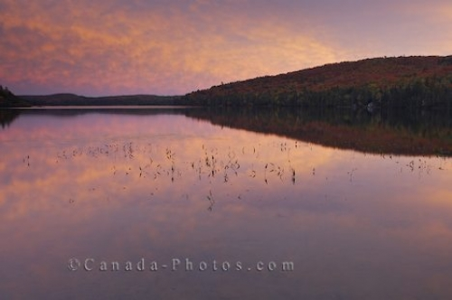 Photo: Rock Lake Sunset Algonquin Provincial Park