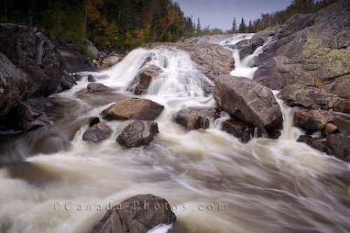 Photo: Rock Waterfall Lake Superior Provincial Park