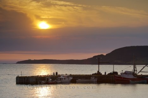 Photo: Rocky Harbour Marina Sunset Newfoundland
