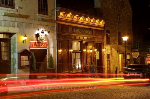 Photo: Rue Bonsecours Restaurant Old Montreal Quebec