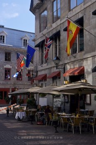 Photo: Rue Saint Amable Restaurant Old Montreal Quebec