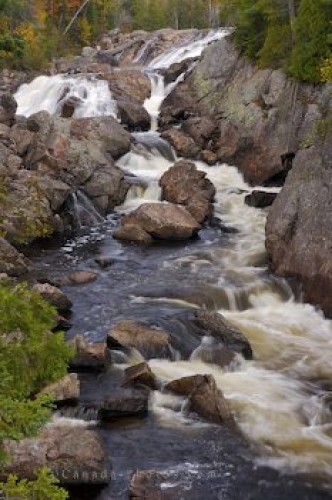 Photo: Sand River Waterfall Scenery Lake Superior Provincial Park