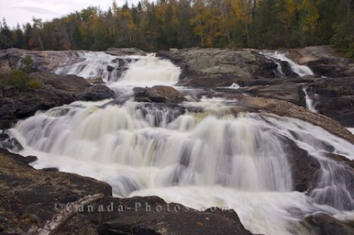 Photo: Sand River Waterfall Lake Superior Provincial Park