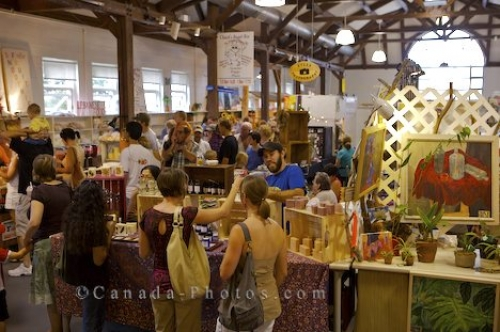 Photo: Saturday Markets Shoppers Fredericton New Brunswick
