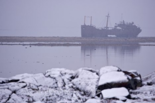 Photo: Shipwreck MV Ithaca Churchill Manitoba