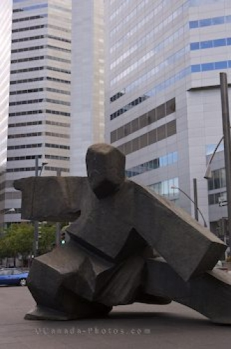 Photo: Square Victoria Sculpture Montreal Quebec