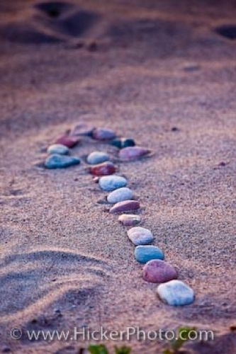 Photo: Symbolic Photo Stone Arrow Sand Beach