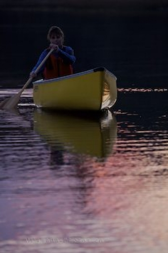 Photo: Sunset Canoeing Rock Lake Ontario
