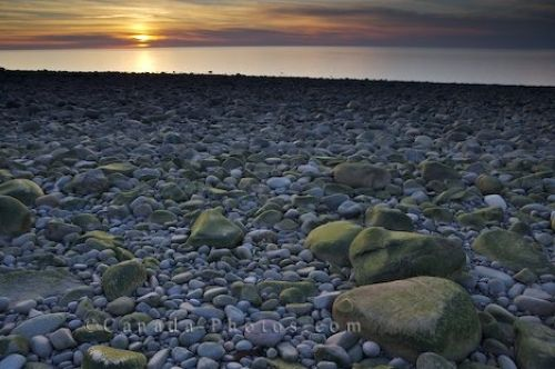 Photo: Sunset Delaps Cove Rocky Beach Bay Of Fundy Nova Scotia