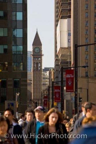 Photo: Toronto Street Scene With Clock Tower
