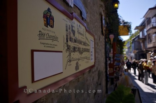 Photo: Tourists Sign Historic Old Quebec Canada