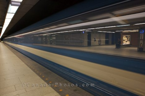 Photo: Train Service Fast Montreal Transportation
