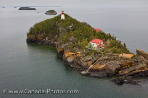 Photo: Trowbridge Island Lighthouse Lake Superior Thunder Bay