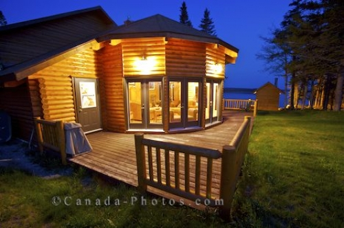 Photo: Tuckamore Lodge Deck Newfoundland Canada