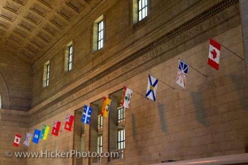 Photo: Union Station Ticket Lobby Flags Toronto