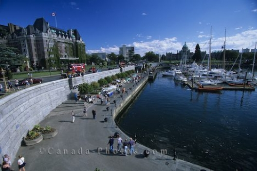 Downtown Victoria British Columbia Harbor
