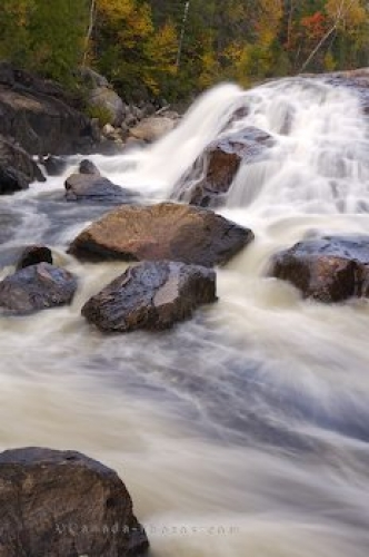 Photo: Waterfall Rapids Lake Superior Provincial Park