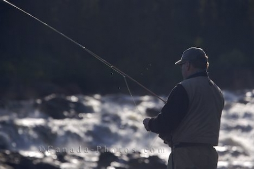 Photo: White Bear River Falls Fisherman Southern Labrador