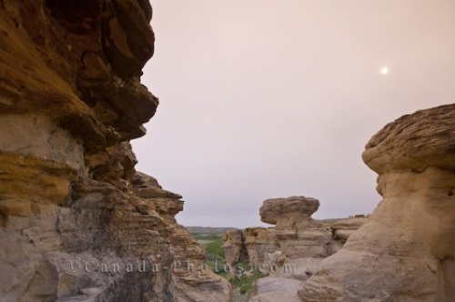 Photo: Writing On Stone Hoodoos Southern Alberta