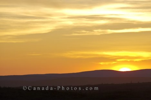 Photo: Yellow Sunset Sky Labrador Coastal Drive