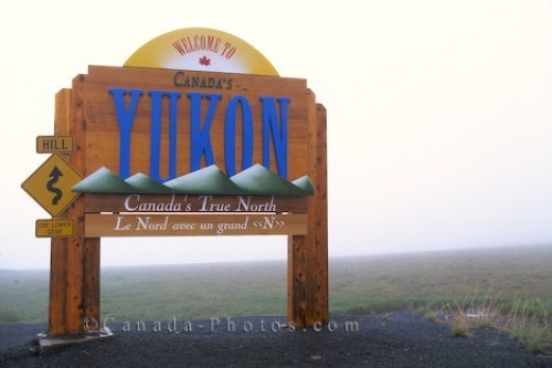 Photo: Yukon Welcome Sign