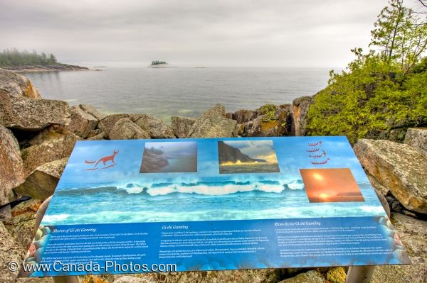 Photo: Agawa Rock Information Sign Lake Superior