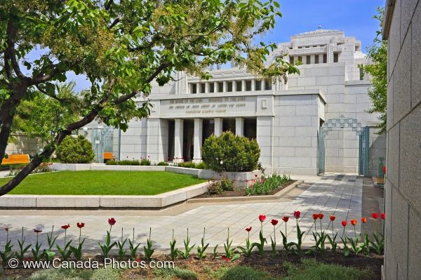 Photo: Alberta Temple Landscape Cardston