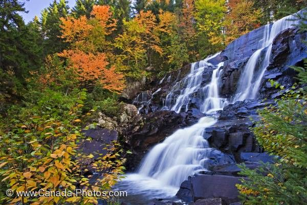 Photo: Scenic Autumn Waterfall Quebec