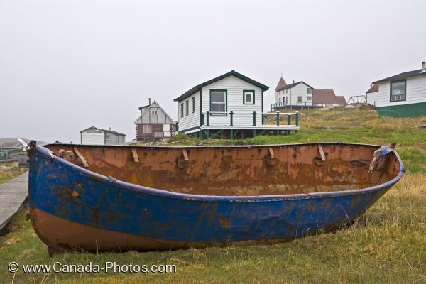 Photo: Battle Harbour Old Fishing Boat Southern Labrador