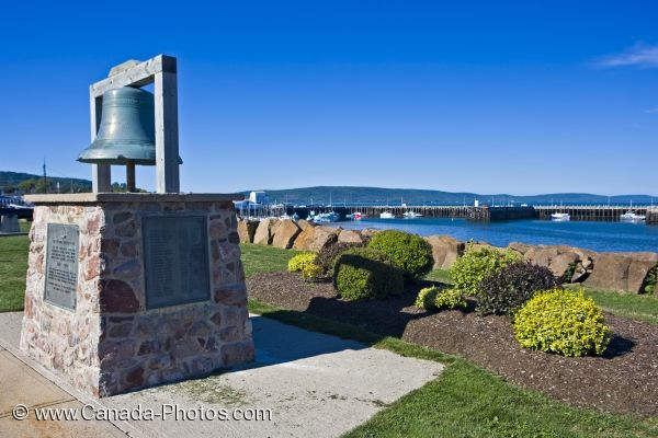 Photo: Bell Monument Bay Of Fundy Nova Scotia