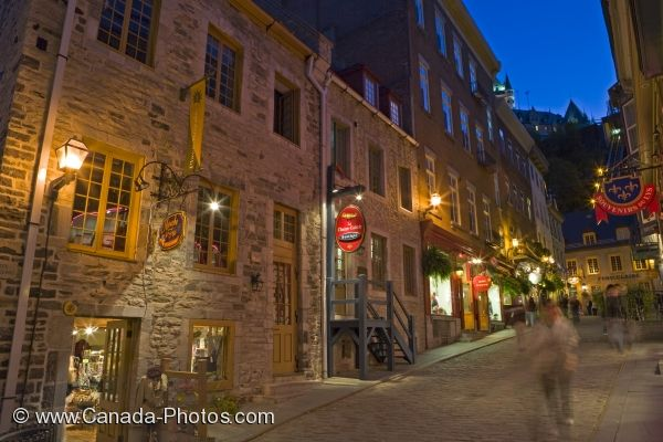 Photo: Blue Hour Lights Old Quebec Canada