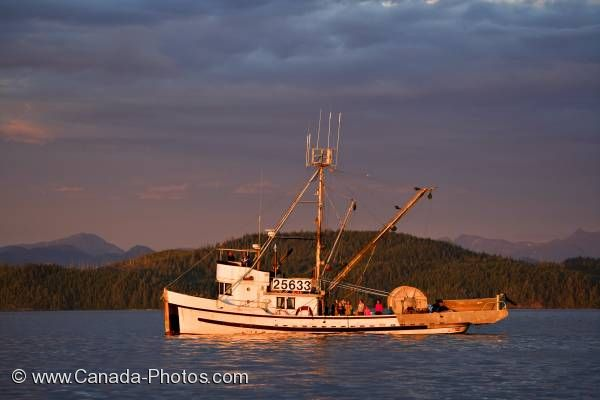 Photo: Fishing Boat Sunset Vancouver Island