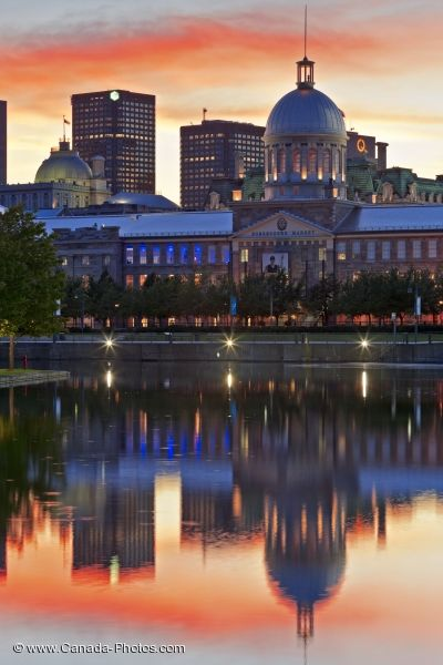 Photo: Bonsecours Basin Reflections Montreal Quebec