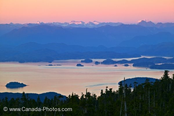 Photo: Broughton Archipelago Sunset Northern Vancouver Island