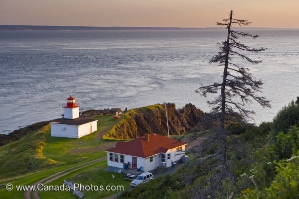 Photo: Cape D Or Lighthouse Sunset Nova Scotia