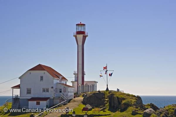Photo: Cape Forchu Lighthouse Yarmouth Harbour Nova Scotia