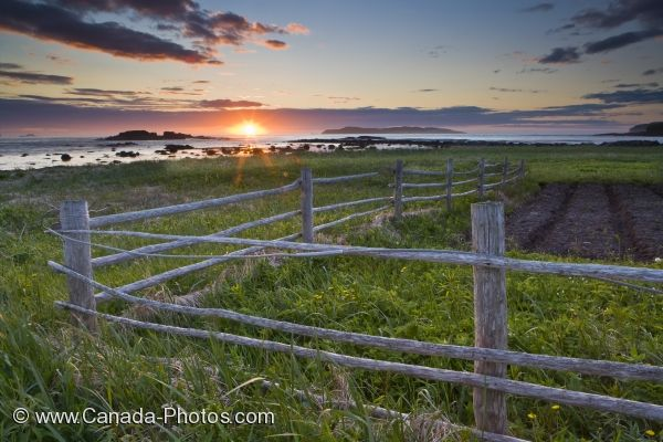Photo: L Anse Aux Meadows Coastal Sunset Newfoundland Canada