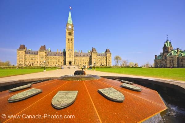 Photo: Centennial Flame Parliament Hill Ottawa Ontario