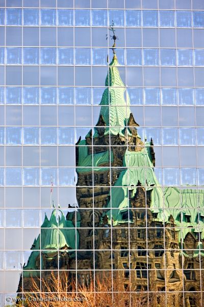 Photo: Confederation Building Reflections Ottawa City Ontario