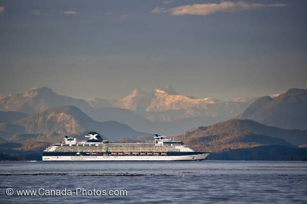 Photo: Scenic Inside Passage Cruise Liner BC Coast Mountains