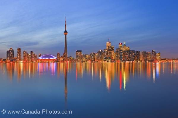 Photo: Toronto City Skyline Dusk Reflections