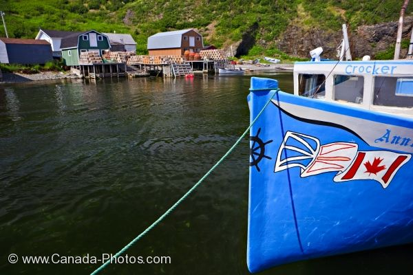 Photo: Fishing Village Harbour Trout River Newfoundland