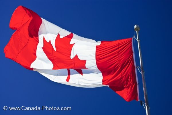 Photo: Flag Of Canada Halifax Harbour Nova Scotia
