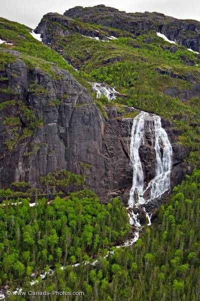 Photo: Forest Waterfall Mealy Mountains Southern Labrador