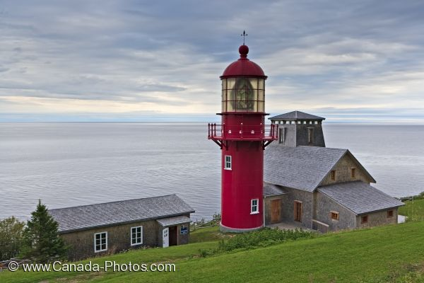 Photo: Gulf Of St Lawrence Point A La Renommee Lighthouse