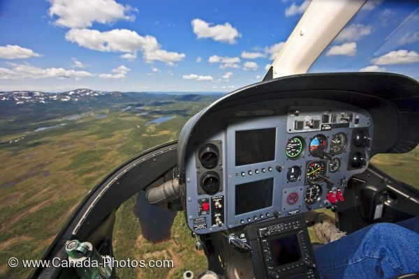Photo: Helicopter Controls Southern Labrador