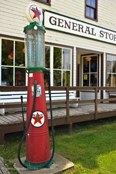 Photo: Historic Gas Pump General Store Mennonite Heritage Village Steinbach Manitoba
