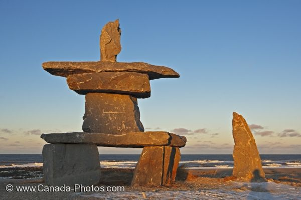 Photo: Hudson Bay Inukshuk Manitoba Canada
